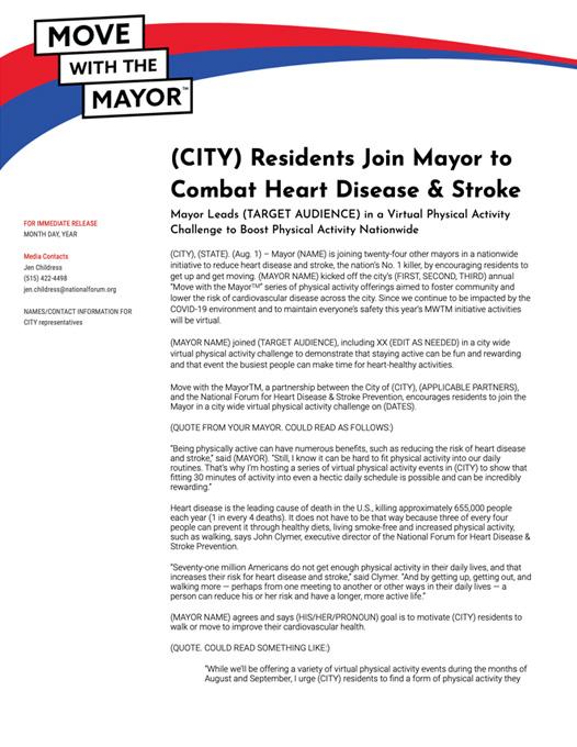 thumbnail for MWTM Virtual Challenge Sample 2021 Press Release (High Cholesterol)